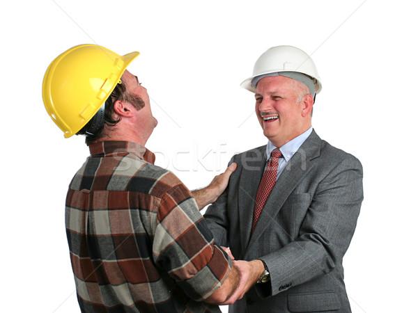 Vicc állás mérnök építkezés osztás együtt Stock fotó © lisafx