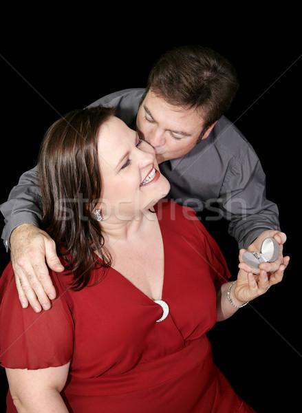 Szeretet házasság gyönyörű meg modell fiúbarát Stock fotó © lisafx