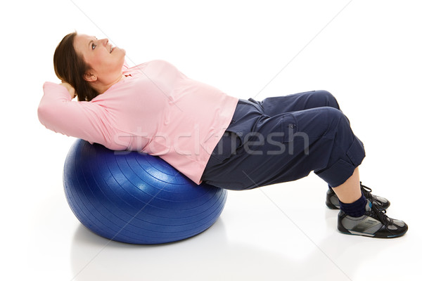 Pilates - Tightening Abdominals Stock photo © lisafx