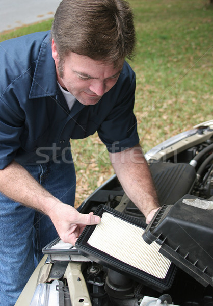 Replacing Auto Air Filter Stock photo © lisafx