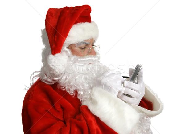 Lijst pda kerstman ondeugend mooie Stockfoto © lisafx