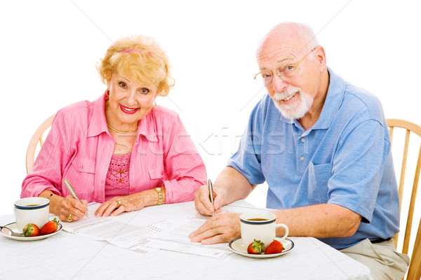 Seniors with Absentee Ballots Stock photo © lisafx