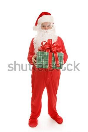 Sleepy Santa with Gift Stock photo © lisafx