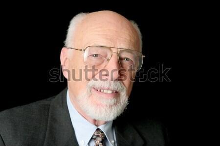 Stock Photo of Friendly Senior Man Stock photo © lisafx