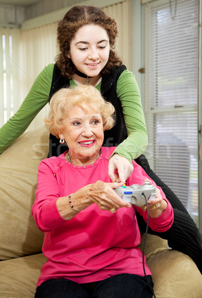 Stock photo: Teen Helps Grandma