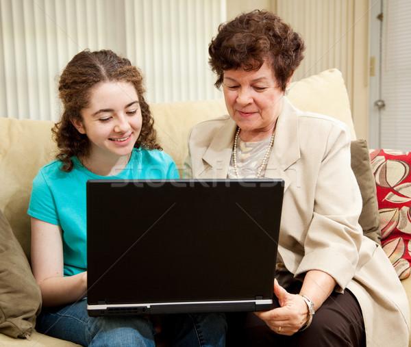 подростков мамы торговых онлайн подростка девушка матери Сток-фото © lisafx