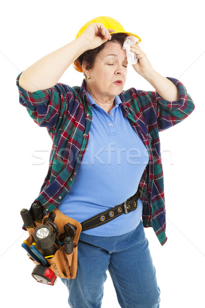 Tired Female Construction Worker Stock photo © lisafx