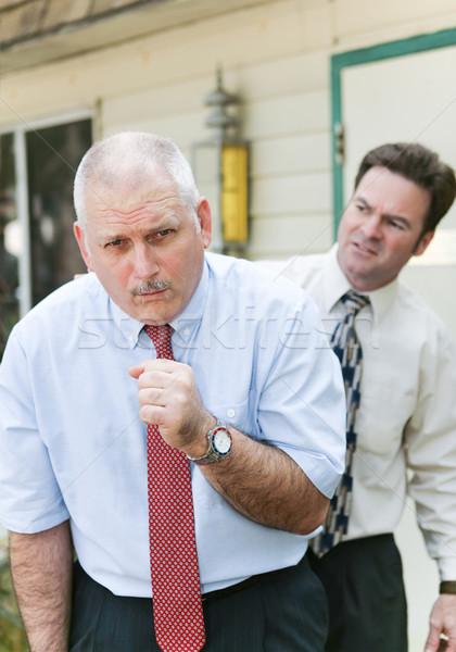 Férfi influenza üzletember mutat egyéb betegség Stock fotó © lisafx