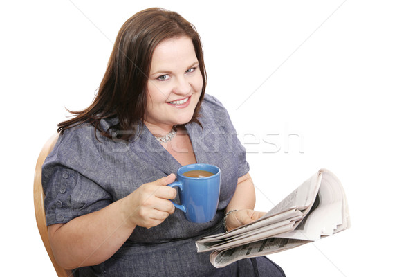 Businesswoman - Coffee & News Stock photo © lisafx