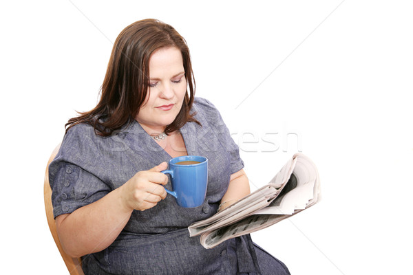 Stock photo: Businesswoman - Morning Paper