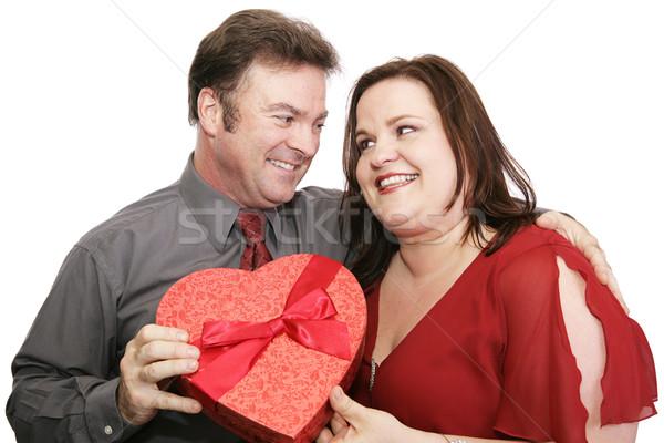 Cute Valentine Couple Stock photo © lisafx