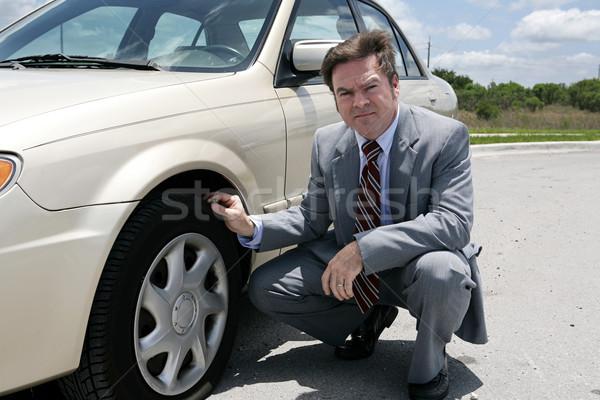 Flat Tire - Screwed Stock photo © lisafx