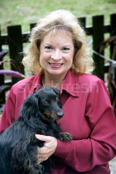 Happy Pet Owner Stock photo © lisafx