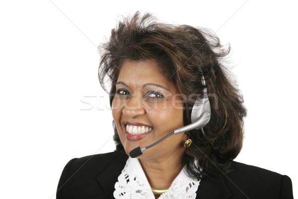 Indian Customer Service Agent Stock photo © lisafx