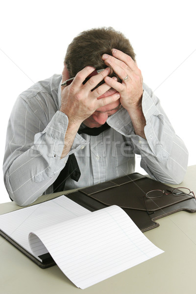 Stock photo: Office Worker - Frustration