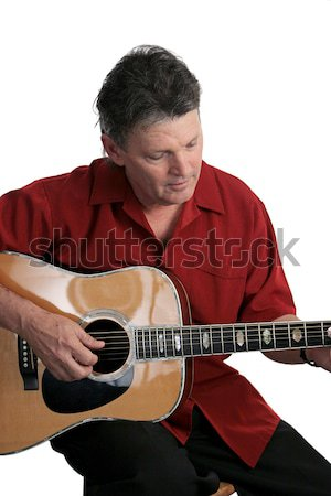 Sexy зрелый рокер рок музыканта играет Сток-фото © lisafx