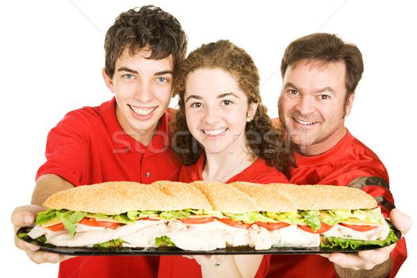 スポーツ ファン 巨人 サンドイッチ サッカー ストックフォト © lisafx