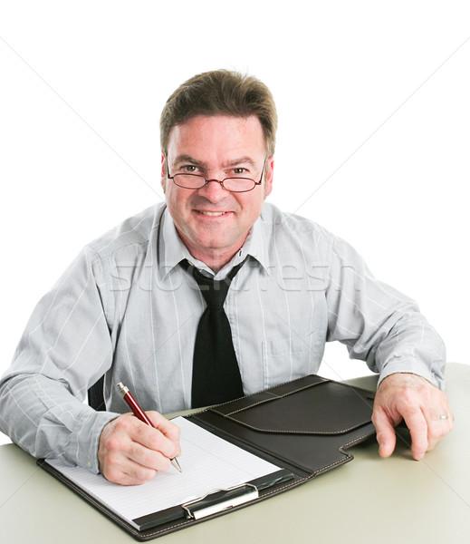 Friendly Job Interviewer Stock photo © lisafx