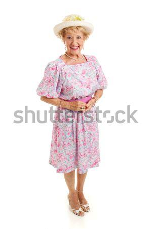 Meridionale senior signora isolato ritratto Foto d'archivio © lisafx