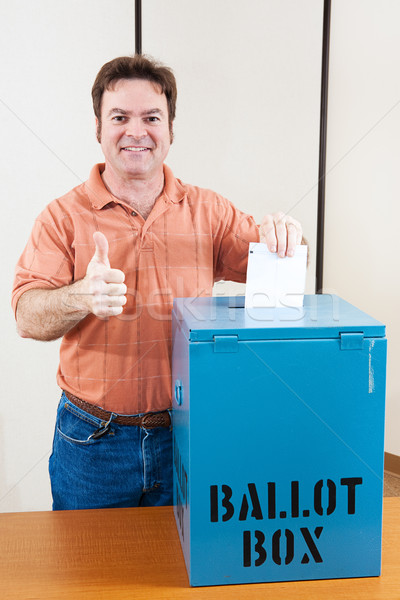 White Male Voter Stock photo © lisafx
