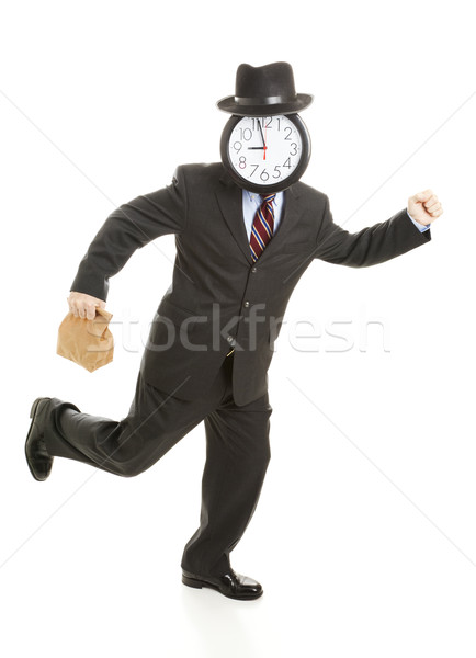 Businessman - Late for Lunch Stock photo © lisafx