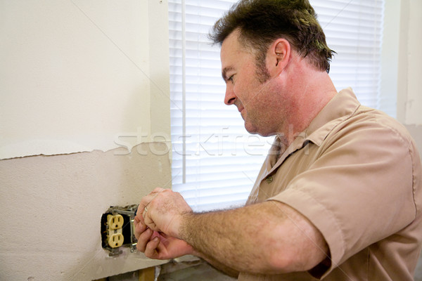 Electrician Repairs Outlet Stock photo © lisafx