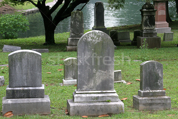 Gravestones By Lake Stock photo © lisafx