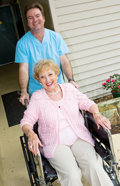 Happy Nursing Home Resident Stock photo © lisafx