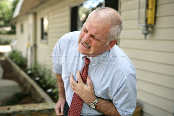 Mature Man - Heart Attack Stock photo © lisafx