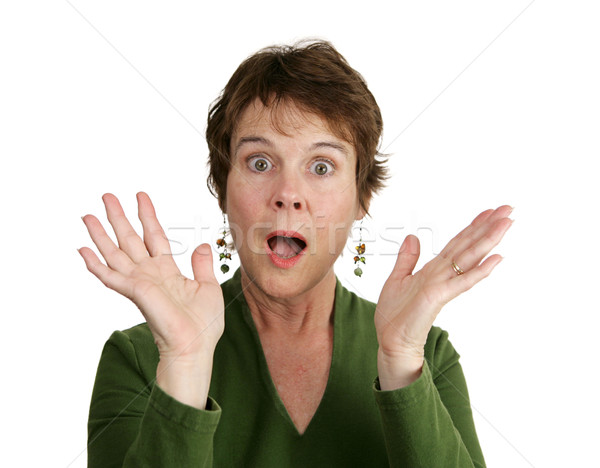 Mature Woman Surprised Stock photo © lisafx