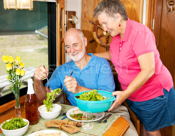 Anziani insalatiera senior donna insalata Foto d'archivio © lisafx