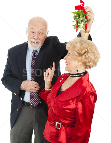 Senior Casanova with Mistletoe Stock photo © lisafx