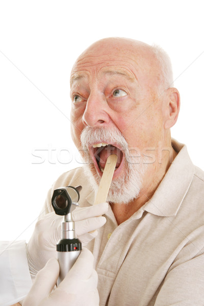 Stock photo: Senior Medical - Say Ahhh