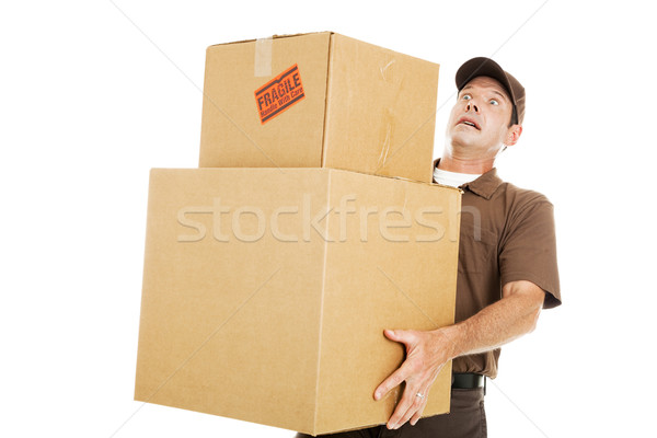 Overwhelmed Delivery Guy Stock photo © lisafx