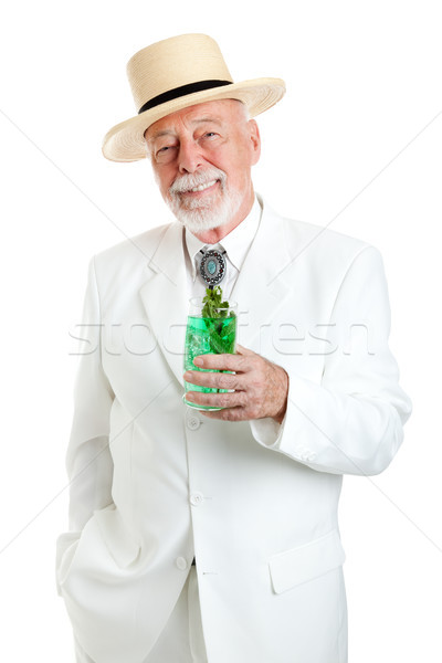 Kentucky Colonel Enjoys Mint Julep Stock photo © lisafx