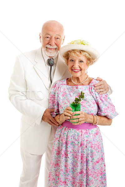 Portrait of Southern Seniors with Mint Julep Stock photo © lisafx