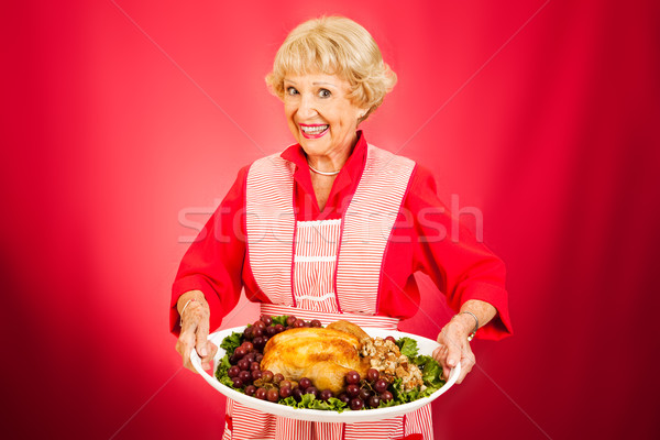 Thanksgiving Dinner with Grandma Stock photo © lisafx