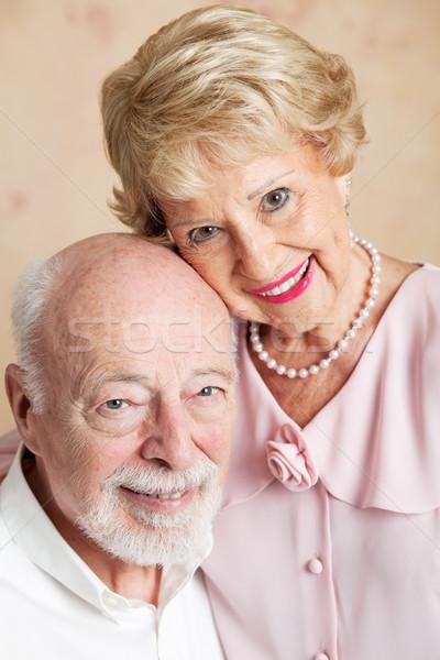 Retrato altos marido esposa primer plano hermosa Foto stock © lisafx