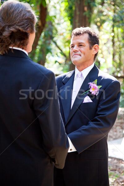 Matrimonio gay bello lo sposo ispanico sesso partner Foto d'archivio © lisafx