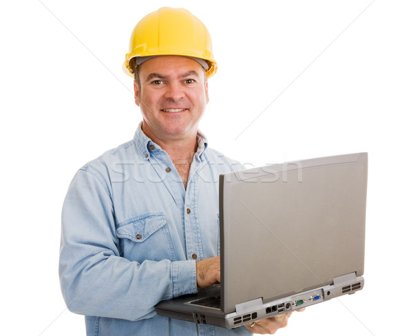 Contractor with Laptop Stock photo © lisafx