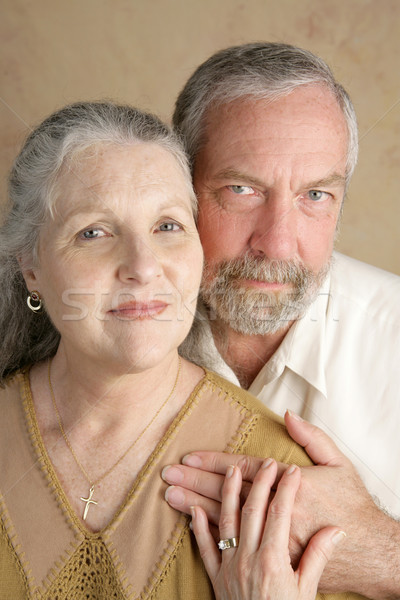 Trouw leven volwassen christelijke paar een Stockfoto © lisafx