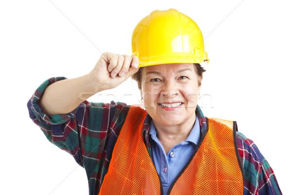 Female Construction Worker Closeup Stock photo © lisafx