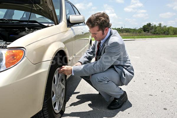 Flat Tire - Inconvenient Stock photo © lisafx