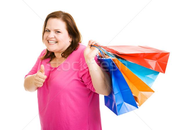 Happy Shopper Thumbsup Stock photo © lisafx