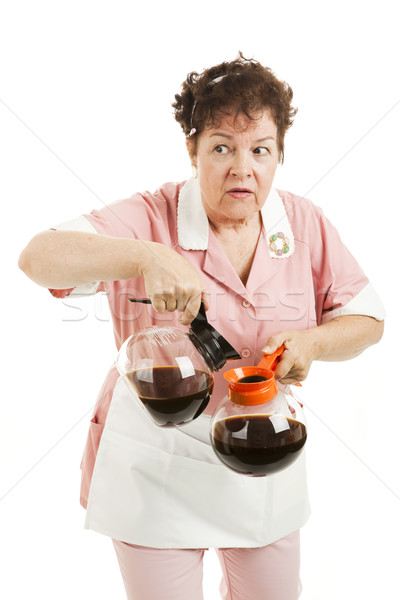 Sneaky Waitress Switches Coffee Stock photo © lisafx