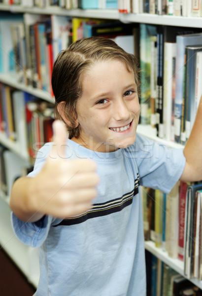 Thumbsup For Reading Stock photo © lisafx