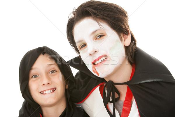 Brothers on Halloween Stock photo © lisafx