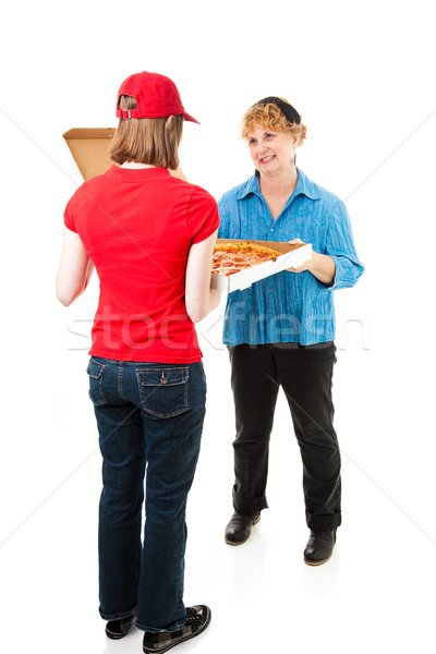Customer Receiving Pizza Delivery Stock photo © lisafx