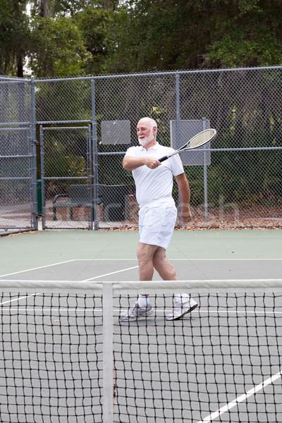 Active Senior Man - Tennis Stock photo © lisafx