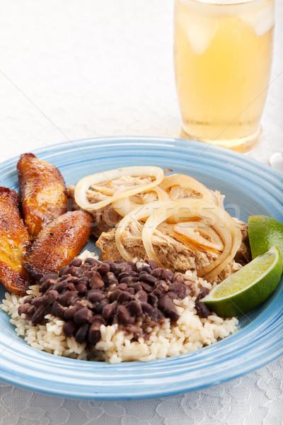 кубинский обеда чай со льдом традиционный черный бобов Сток-фото © lisafx